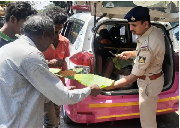lockdown police distributed food to the needy