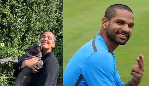 daughter aliyah shaved her hair papa shikhar dhawan reacts