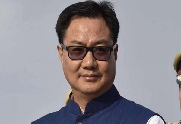 sports minister kiren rijiju corona virus players encouragement