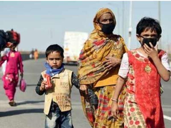 lockdown migrant pregnant woman her husband walks noida to jalaun