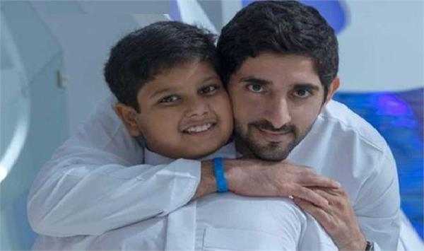 wish fulfilled  dubai crown prince meets boy  7  suffering from cancer