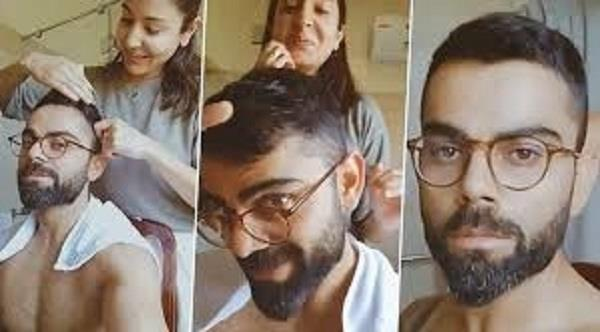 anushka cuts her hair with virat  s kitchen scissors  video