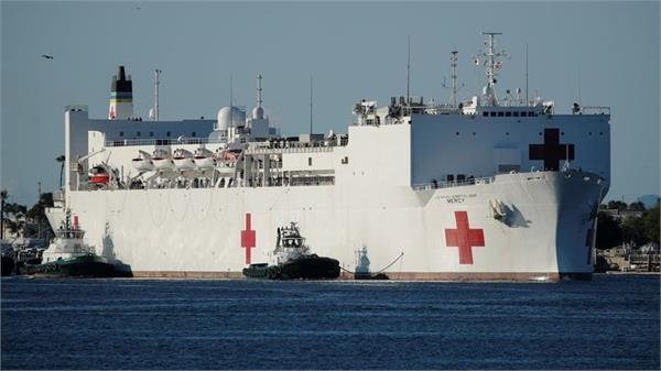 corona   us navy changes hospital  ship transforms into hospital