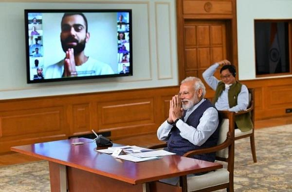 modi says to the players  india is to win as team india