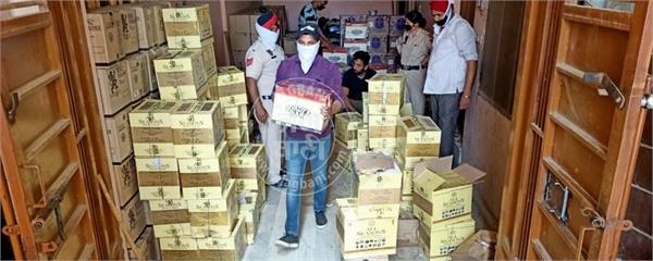 coronavirus jalandhar curfew cia staff 1 raid in home recovered alcohol