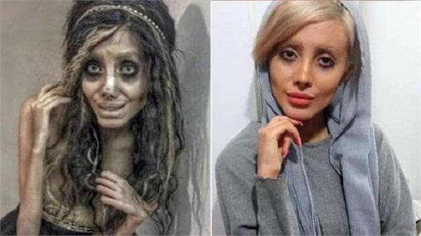 angelina jolie zombie look alike iranian youtuber sahar tabar corona positive