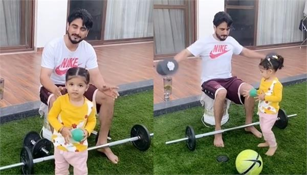 kulwinder billa shared a video with his daughter on instagram account