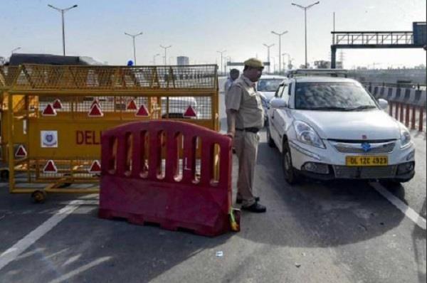 faridabad delhi border sealed from today no entry after 12 noon