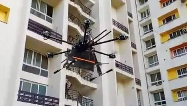 coronavirus milind raj made drone sanitized lucknow