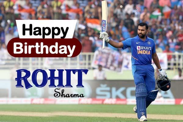 happy birthday rohit sharma hit man