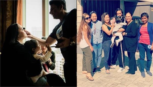 corona virus outbreak neha dhupia spend time with her family