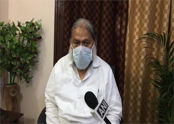delhi anil vij coronavirus patients haryana