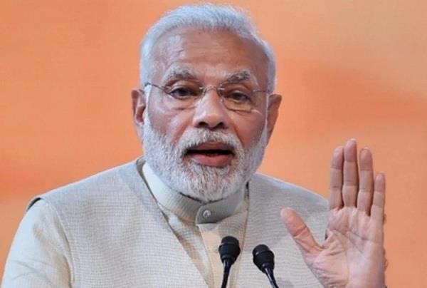 pm modi reminded countrymen to light lamps at nine clock