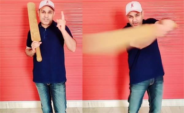 sehwag recites sunny deol s dialogue at lockdown
