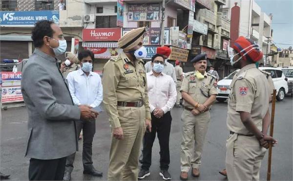 jalandhar curfew flag march