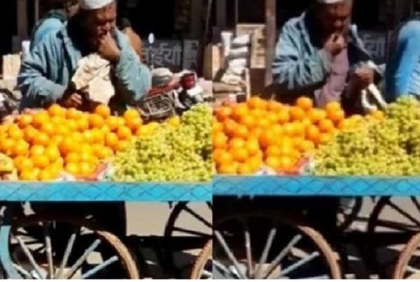 coronavirus vidoe viral man spit on fruits sold