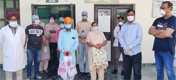 coronavirus nawanshahr curfew 72 year elder woman recovered
