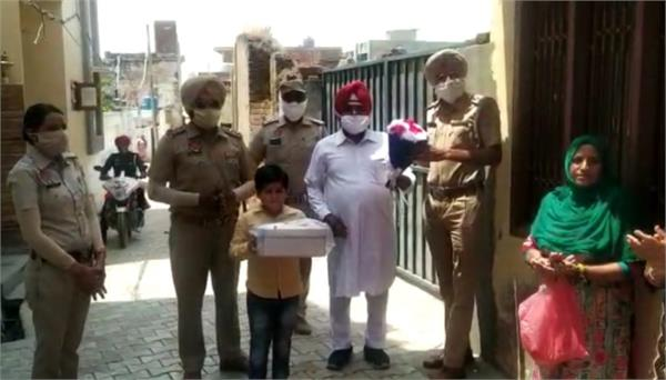 punjab police  birthday  surprise