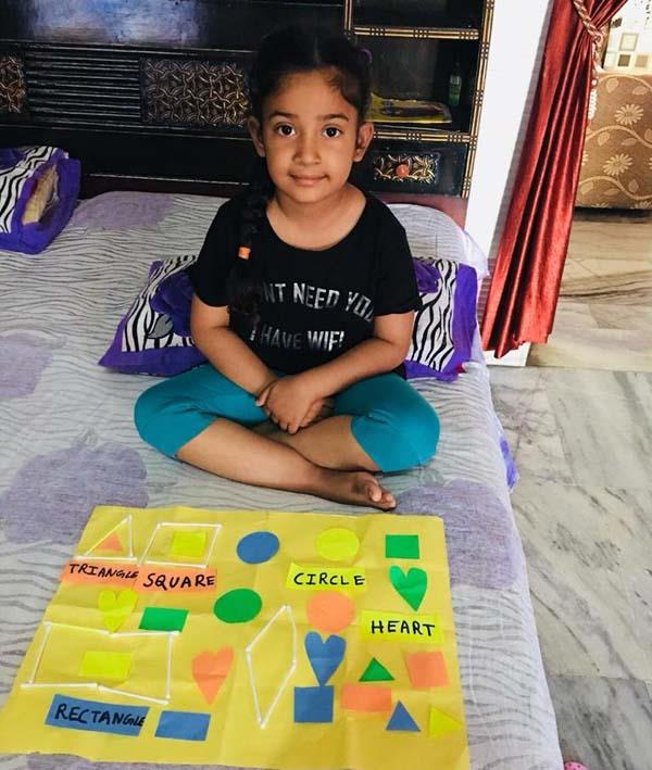 fun with shapes conducted by dips bhogpur