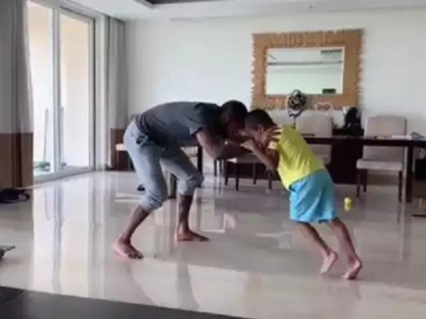 shikhar dhawan  s fight with his son  watch the video