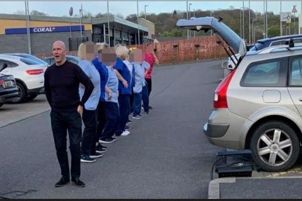 scotland   home care workers dance together