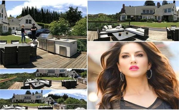 sunny leone and daniel weber mansion in los angeles inside pics