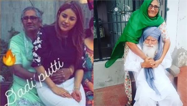 shehnaz gill grandparents cute video viral on internet