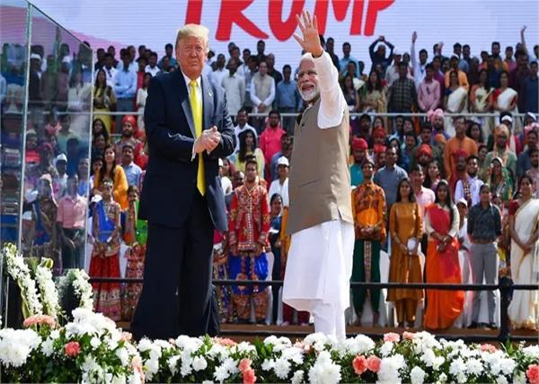 narendra modi with donald trump in ahmedabad