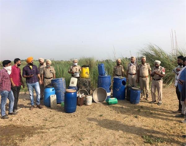tarn taran  excise department  lahan recovered