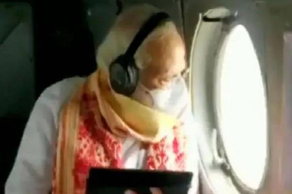 pm narendra modi in west bengal amphan helicopter survey