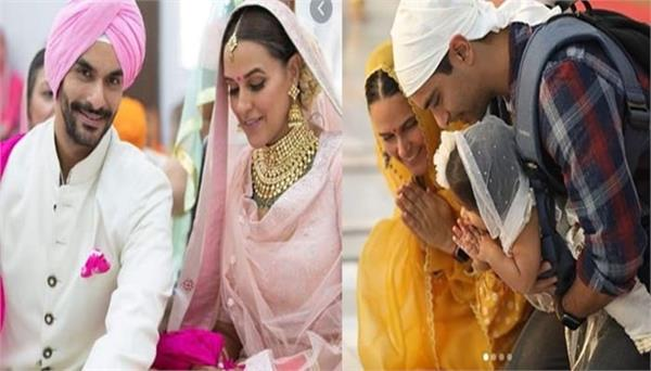 neha dhupia   angad bedi celebrates their second marriage anniversary