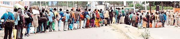 coronavirus jalandhar curfew railway station