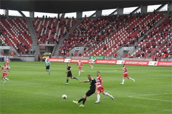 hungarian football fans return to stadia after virus lockdown