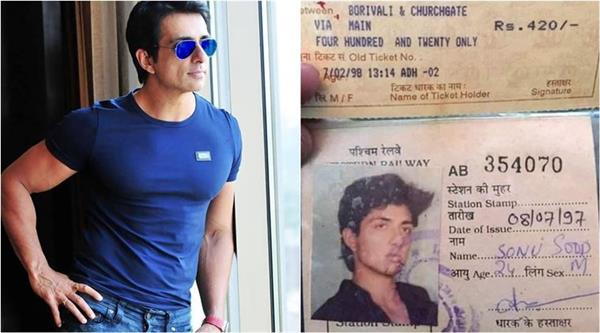 mumbai local train ticket of sonu sood got viral