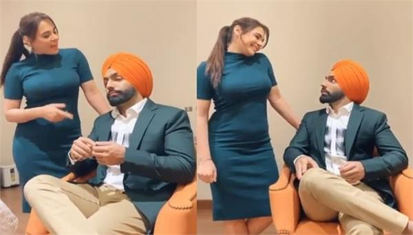 ammy virk shared funny video with mandy takhar