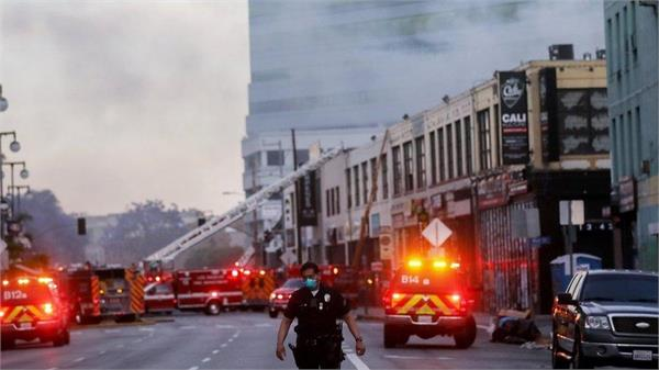 los angeles explosion  11 firefighters hurt as   hash oil factory   burns