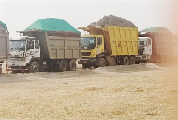 sutlej river  illegal mining