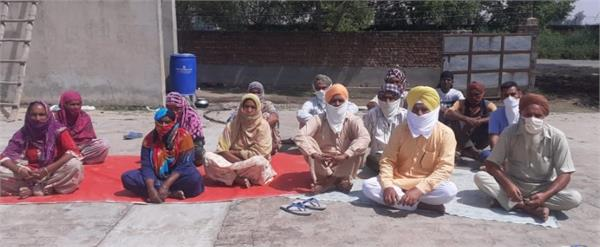 bjp workers on hunger strike
