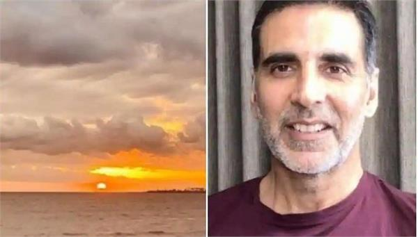 akshay kumar posts picture of sunset after cyclone nisarga