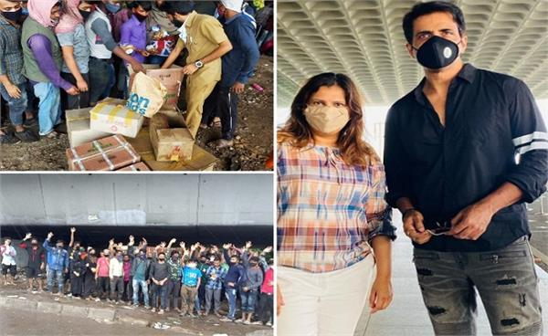 sonu sood airlifts 180 labours of assam