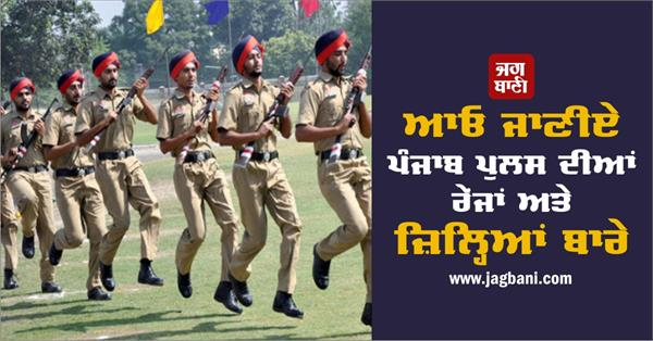 let us know about the ranges and districts of punjab police