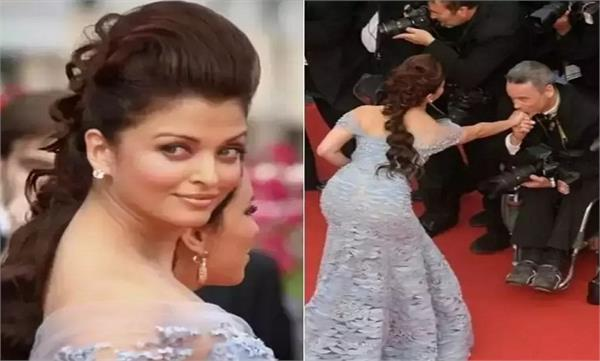 aishwarya rai bachchan stopped on to greet a wheelchair bound photographer