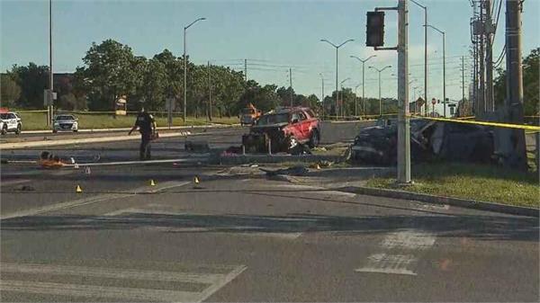 two vehicle crash in brampton critical condition