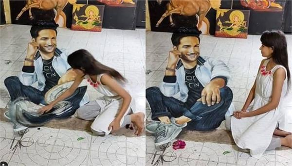 viral video of sushant singh rajput 3d painting by his talented fan