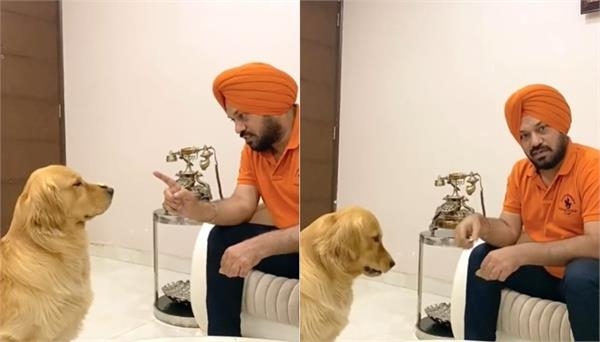 gurpreet ghuggi with his pet dog