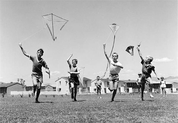 old days  back  kite flying  playing