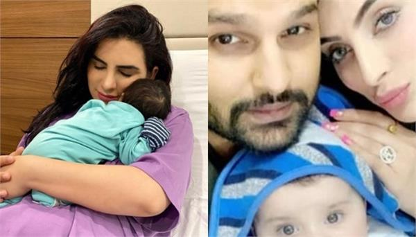 hredaan hans turns a month old mansi sharma posts a beautiful picture and note