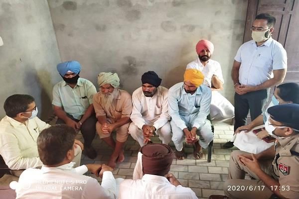 dc sangrur and district police chief shared their grief