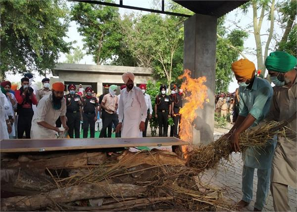 shaheed gurbinder singh government honors sangrur funeral