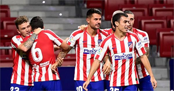 atletico third after beating valladolid